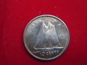 1963 TEN CENT COIN FROM CANADA  FROM MY COLLECTION [NN62]