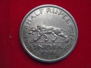 1946 GEORGE V1 HALF RUPEE COIN FROM INDIA  FROM MY COLLECTION [NN39]