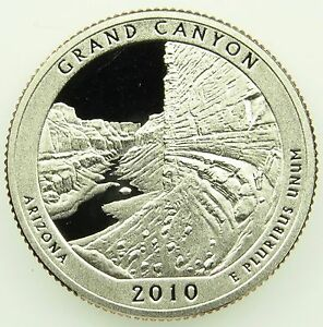 2010 S DEEP CAMEO CLAD PROOF GRAND CANYON AMERICA THE BEAUTIFUL QUARTER  B05