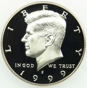 1999 S DEEP CAMEO CLAD PROOF KENNEDY HALF DOLLAR  B01