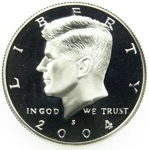 2004 S DEEP CAMEO CLAD PROOF KENNEDY HALF DOLLAR  B01