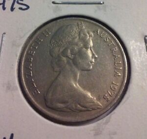 1975 AUSTRALIA 10 CENTS COIN   KM65    IN2687