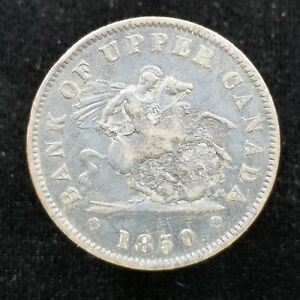 BANK OF UPPER CANADA 1 PENNY TOKEN 1850 ST. GEORGE & THE DRAGON