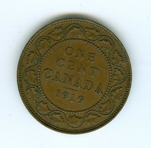CANADA 1919 LARGE CENT  CIRCULATED