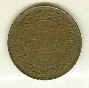 CANADA 1915 LARGE CENT  CIRCULATED