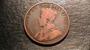 CANADA GEORGE V LARGE ONE CENT   1918 CIRCULATED 412B6