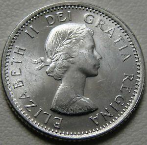 1964 10C CANADA 10 CENTS SILVER CANADIAN DIME BU UNC SILVER 12530