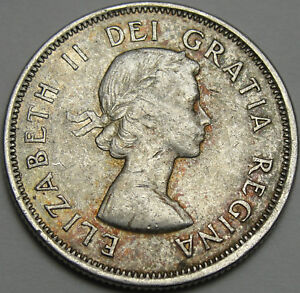 1964 25C CANADA 25 CENTS SILVER CANADIAN QUARTER SILVER 12432