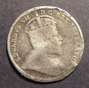 1902 CANADA 5 CENTS    SILVER          M606