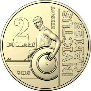 2018 INVICTUS GAMES $2 COIN   DEPICTING A RETURNED SERVICEMAN IN A WHEELCHAIR