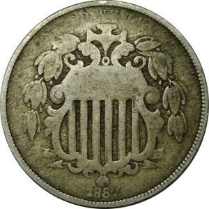 1867 5C SHIELD NICKEL WITH RAYS NICE GRADE  OLD TYPE COIN CS125