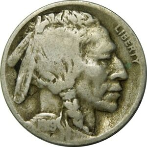 1919 D 5C BUFFALO NICKEL VG F  OLD TYPE COIN CS119