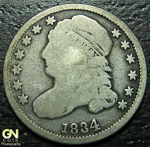 1834 CAPPED BUST DIME      MAKE US AN OFFER   W3552  ZXCV