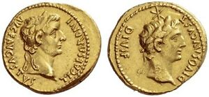 Click now to see the BUY IT NOW Price! TIBERIUS & DIVUS AUGUSTUS 14 37 AD.   ROMAN GOLD AUREUS