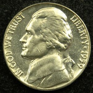 1959 UNCIRCULATED JEFFERSON NICKEL BU  B01
