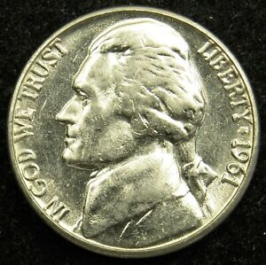 1961 D UNCIRCULATED JEFFERSON NICKEL BU  B03
