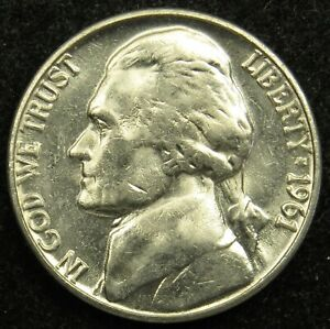 1961 D UNCIRCULATED JEFFERSON NICKEL BU  B04