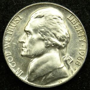 1968 S UNCIRCULATED JEFFERSON NICKEL BU  B01