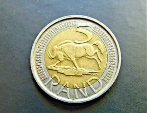 2014 SOUTH AFRICA 5 RAND   GREAT BI METALLIC COIN   SEE PICS