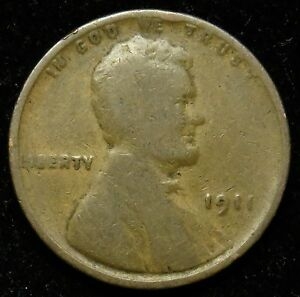1911 LINCOLN WHEAT CENT PENNY G GOOD  B01