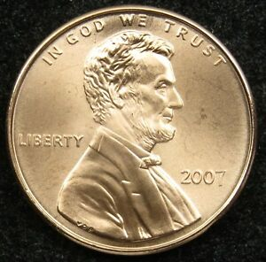 2007 SATIN FINISH UNCIRCULATED LINCOLN MEMORIAL CENT PENNY BU  B01
