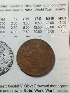 GREAT DETAILED SWEDEN COIN    KM811