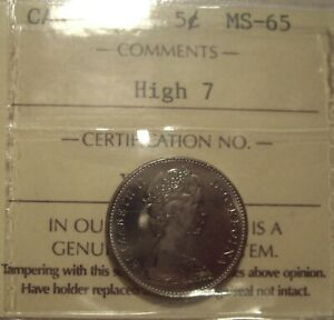 Click now to see the BUY IT NOW Price! CANADA ELIZABETH II 1977 HIGH 7 FIVE CENTS   ICCS MS 65  XTK 301