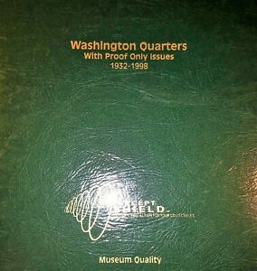 Click now to see the BUY IT NOW Price! 1932 1998 WASHINGTON QUARTERS INCLUDING SILVER & PROOF ISSUES COMPLETE BOOK