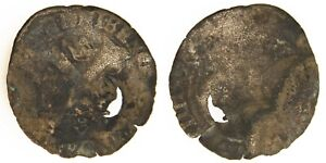 US COLONIAL  FRANCE    EDICT OF 1640 COUNTERMARKED 1587 HENRY III DOUZAIN