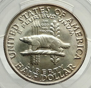 Click now to see the BUY IT NOW Price! 1936 WISCONSIN BLACK HAWK WAR COMMEMORATIVE SILVER HALF DOLLAR COIN PCGS I76461