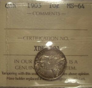 Click now to see the BUY IT NOW Price! CANADA EDWARD VII 1905 SILVER TEN CENTS   ICCS MS 64