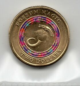 2017 AUSTRALIAN CIRCULATED $2    COLOURED   POSSUM MAGIC