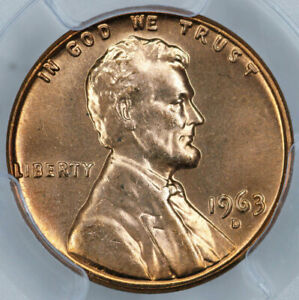 1963 D PCGS MS65RD LINCOLN CENT