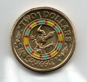 2019 AUSTRALIAN CIRCULATED $2   COLOURED   MR SQUIGGLE..