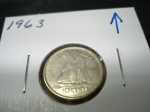 1963   SILVER   CANADIAN DIME   CANADA 10 CENTS