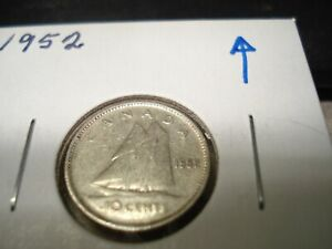 1952   SILVER   CANADIAN DIME   CANADA 10 CENTS