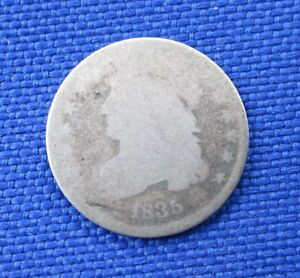 1835 U.S. CAPPED BUST DIME 10 CENT SILVER COIN