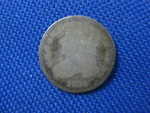 1834 U.S. CAPPED BUST DIME 10 CENT COIN