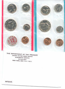 1972 US P&D MINT SET 11 COINS    ZF1