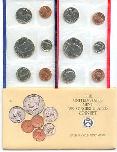 1990 US P&D MINT SET       $1.5 MILLION IN EBAY SALES ZF1