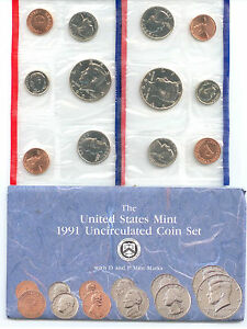 1991 US P&D MINT SET       $1.5 MILLION IN EBAY SALES ZF1