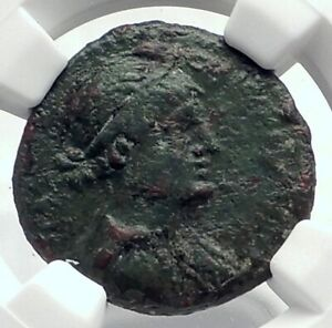 Click now to see the BUY IT NOW Price! CLEOPATRA VII & MARK ANTONY AUTHENTIC ANCIENT 32BC GREEK / ROMAN COIN NGC I77377