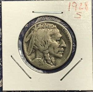 1928 S BUFFALO NICKEL. COLLECTOR COIN FOR YOUR COLLECTION .