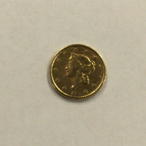 UNKNOWN DATE $1 LIBERTY HEAD GOLD DOLLAR EARLY UNITED STATES COIN
