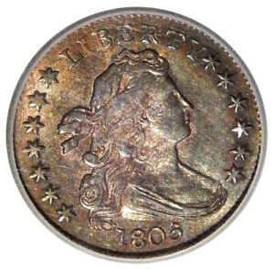 1805 10C ICG MS 63   NICE UNCIRCULATED DRAPED BUST DIME