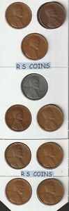 1940D 1941D 1942D 1943D 1944D 1945D 1946D 47D TO 49D  FINE LINCOLN CENT SET