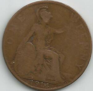 GB 1914 GEORGE V  PENNY COIN