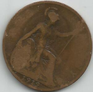 GB 1919 GEORGE V  PENNY COIN