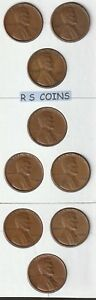 1950  THRU  1958  P   COMPLETE  9  COIN   CIRCS   LINCOLN CENT SET  NEW LOWER $