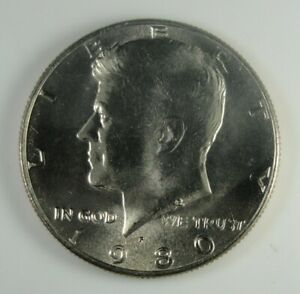 1980 P KENNEDY HALF DOLLAR BRILLIANT UNCIRCULATED  HG